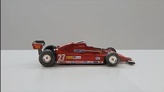 Scale Model of a Ferrari F1 car driven by Gilles Villeneuve